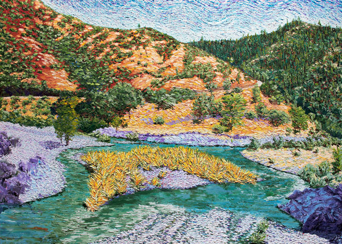 North Fork 49 x 66 : Sierra Mountain Series : Ron DuHamel